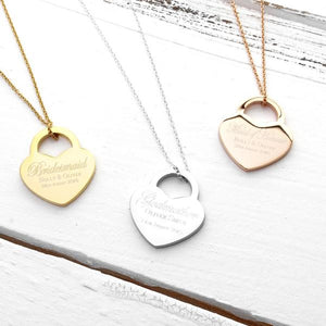Godmother Necklace | Gift ideas for Godmothers | Personalised Gift for Godmother | Lock Heart Necklace