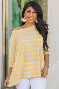 """When Spring Comes"" Knit Top (Yellow)"