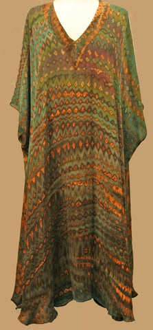 Green Long Caftan