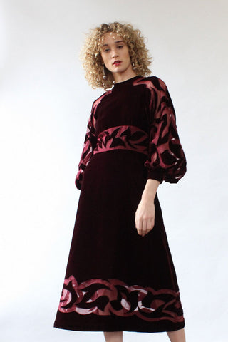 Richilene Velvet Cutout Dress M