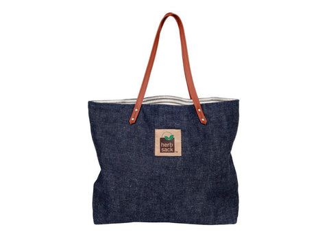 HERBSACK JANICE HEMP DENIM & ORGANIC COTTON HANDBAG TOTE