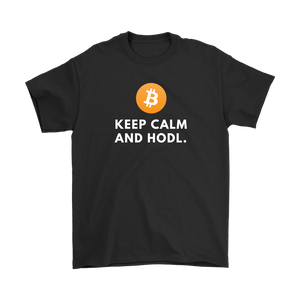 Keep Calm and Hodl T Shirt - Bitcoin Clothing