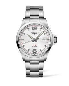 THE LONGINES CONQUEST V.H.P. 43MM SILVER DIAL