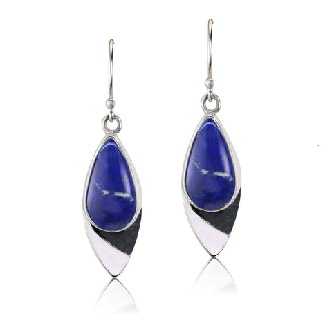 COBALT REVERIE LAPIS TEARDROP EARRINGS