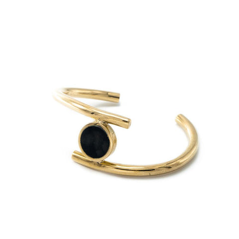 Brass and Horn Lucine Statement Cuff Bracelet