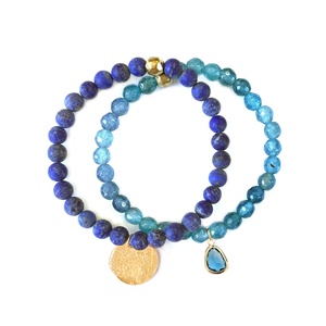 LYRA DENIM BLUE STRETCH SET BRACELET