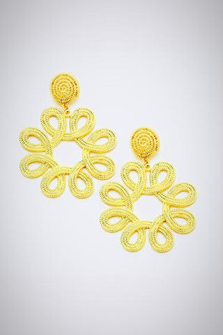 Loop Gold Flower Earrings