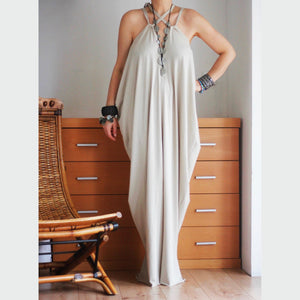 Twist Multiway Maxi Dress in Cappuccino