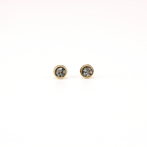 Swarovski Mini Post Earrings Black Diamond