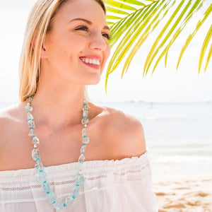 Sea Glass Long Statement Necklace