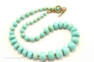 CLASSIC FAUX TURQUOISE NECKLACE