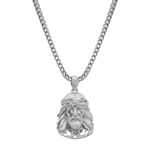 JESUS NECKLACE - WHITE GOLD