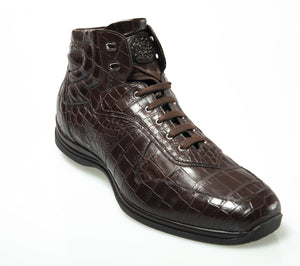 Stefano Ricci Genuine Crocodile Sneakers Boot Shoes 11 (IT 44) Hand-made in Italy