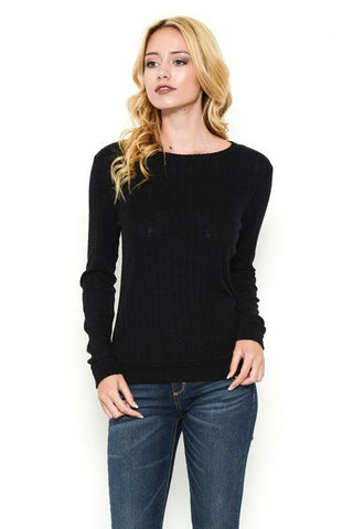 SOFT TOUCH SWEATER - BLACK
