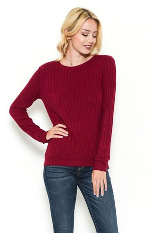 SOFT TOUCH SWEATER - CRIMSON