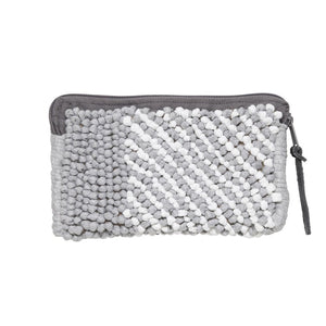block stripe grey mini clutch