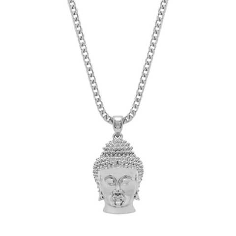 BUDDHA NECKLACE - WHITE GOLD