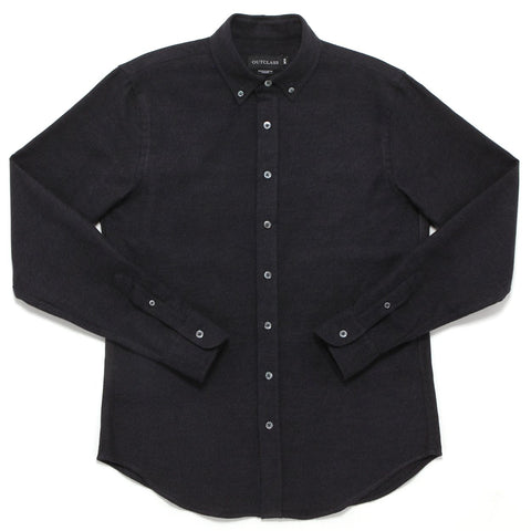 CHARCOAL HEATHER TWILL FLANNEL SHIRT