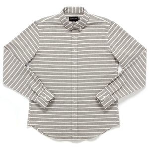 COOL GREY STRIPE FLANNEL SHIRT