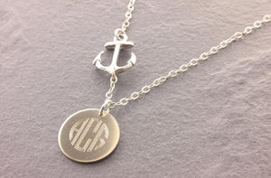 Anchor Necklace: Monogram