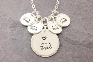 Mama Bear Necklace (1-8 Kids)