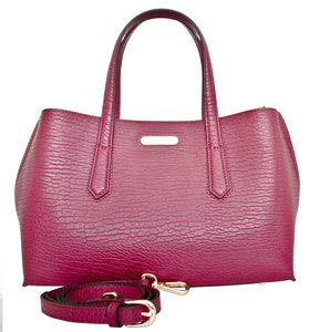 Patria - Leatherbay Tote Bag / Wine Red