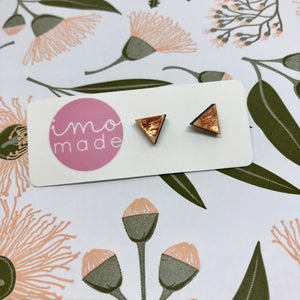 PEACH SPARKLE MINI STUDS