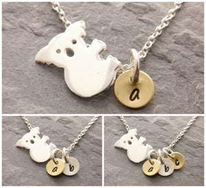 Koala Necklace with Mini Discs (1-3 Initials)