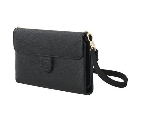 CrossBody Bag with Phone Case - Pebble - Classic Black