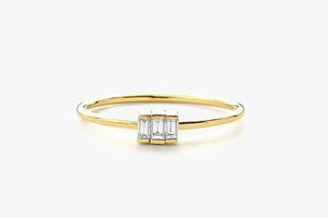 BAGUETTE TRIO DIAMOND RING