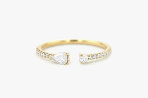 14K GOLD CONTEMPORARY ROSE CUT DIAMOND RING