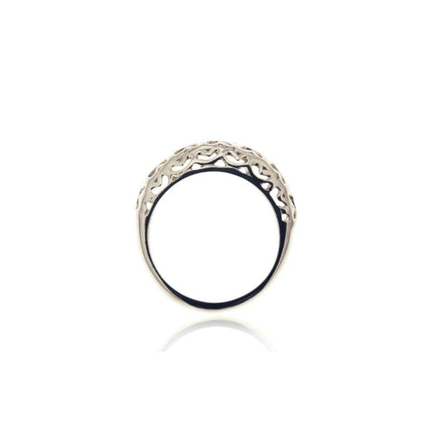 Piara Ring Of Heart Small Silver