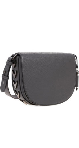 RIMA PEBBLE LEATHER CROSSBODY SATCHEL