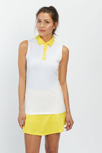 Cross Sleeveless Polo