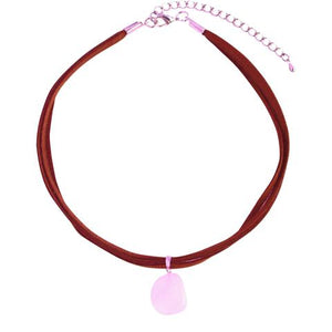 Rose Quartz Crystal Choker Necklace