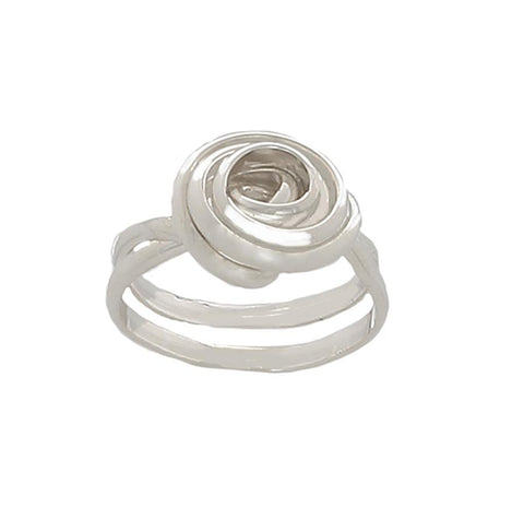 Rose twisted Sterling Silver Ring