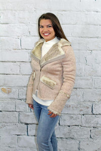 MOCHA FUR LINED KNIT JACKET