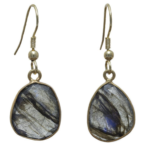 Gold-overlay Labradorite Earrings