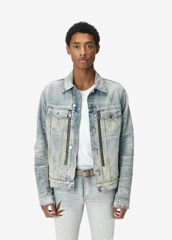 MX2 DENIM TRUCKER JACKET BONE INDIGO