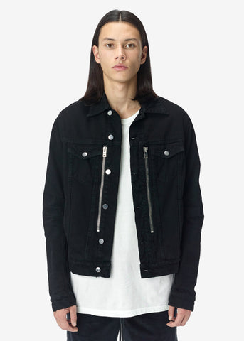 MX2 DENIM TRUCKER JACKET BLACK