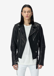 LIGHTWEIGHT BIKER JACKET BLACK