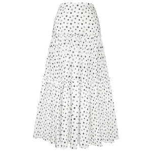 ELLIE (WHITE) TIERED MAXI SKIRT