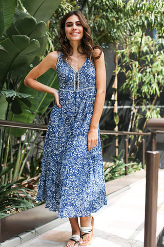 SASHA DRESS IN BLUE RIPPLE