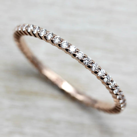 Diamond Scalloped Full Eternity Band