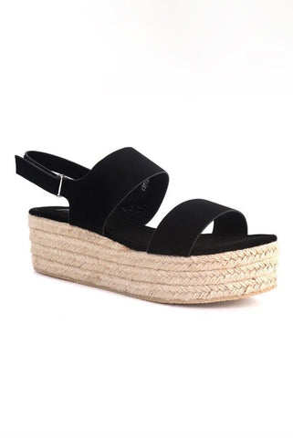 Espadrille Sandals - Black