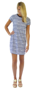 SIERRA SHIFT DRESS IN SAILOR STRIPE