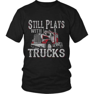 STILL PLAYS WITH TRUCKS