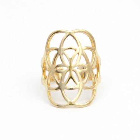 GOLD SEED OF LIFE RING