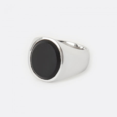 Oval Ring - Matte Black Onyx