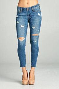 Medium Wash Ankle Skinny